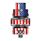Skin Decal for Smok TFV8 Big Baby V2 Tank / american flag distressed red white