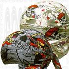 Bandit Gray Warriors 2 Do Sweat band Deal SKULL CAP Du RAG Head Biker Doo Hat