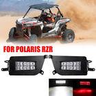 2X ATV UTV CREE LED Headlight Headlamp For 14-16 Polaris RZR 900 XP TURB 4 1000