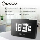 Digoo Digital Backlit Lattice Dual Alarm Clock Snooze Temperature Calendar
