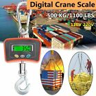 Heavy Duty 500KG / 1100 LBS 0.5 Ton Industrial LCD Digital Hanging Crane   Gift