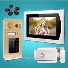 """HOMSECUR 7"""" Hands-free Video Door Phone Intercom System Password Access"""