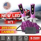 2x H7 LED Headlight Conversion Kit ZES Bulb 160W 30000LM Canbus High Power 6000K