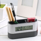 Pen Holder Multi-functional Home and Office Digital Clock with Calendar Display