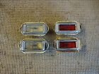 1969 Buick Wildcat LeSabre Front and Rear Side Marker Light Assemblies
