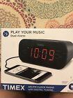 TIMEX AM/FM Dual Alarm Clock Radio with Digital Tuning (Gunmetal Gray)