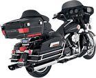 Monster Dual Slip On Exhaust Chrome + Black Tips 16753 95-16 Harley Touring