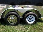 "(2) 15"" Stainless Steel Trailer Wheel Hub Caps Rim Covers SHARP!! GQST50"