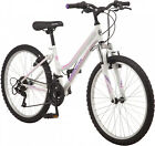Roadmaster Granite Peak Girls Mountain Bike, 24' wheels, White