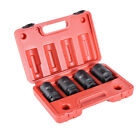 """4pc 1/2"""" Dr Deep Spindle Axle Nut Socket Set 12 POINT METRIC 30mm 32mm 34mm 36mm"""