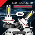 2X 9008 COB LED Headlight Conversion Kit 80W 18000LM HI/LO Beam Bulb 6000K White