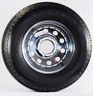 2-Pk Trailer Tire On Rim ST225/75D15 H78-15 225/75-15 6 Lug Chrome Modular Wheel